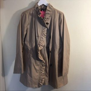 Betsey Johnson raincoat trench coat